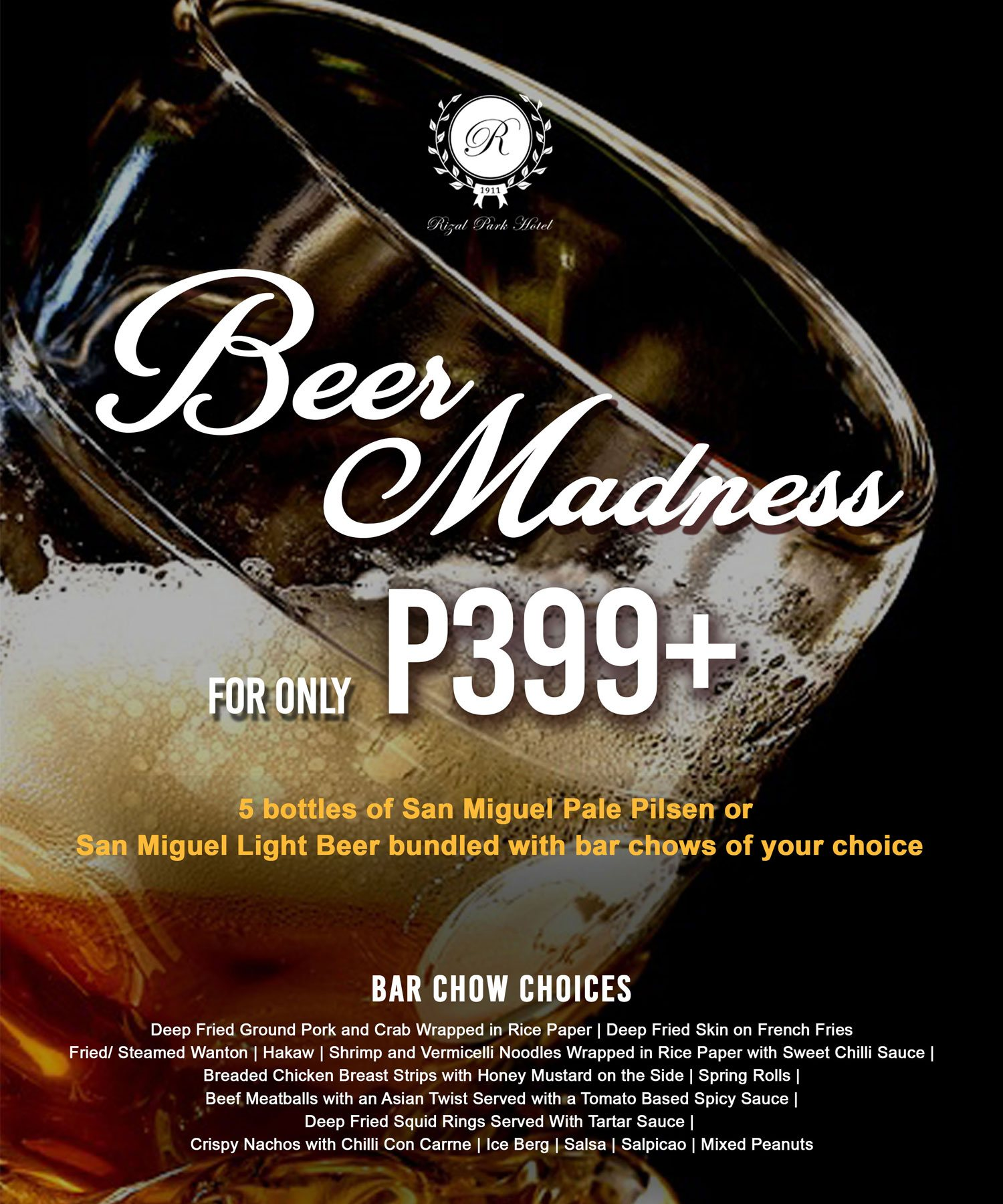 Rizal Park Hotel - Beer Madness Promo