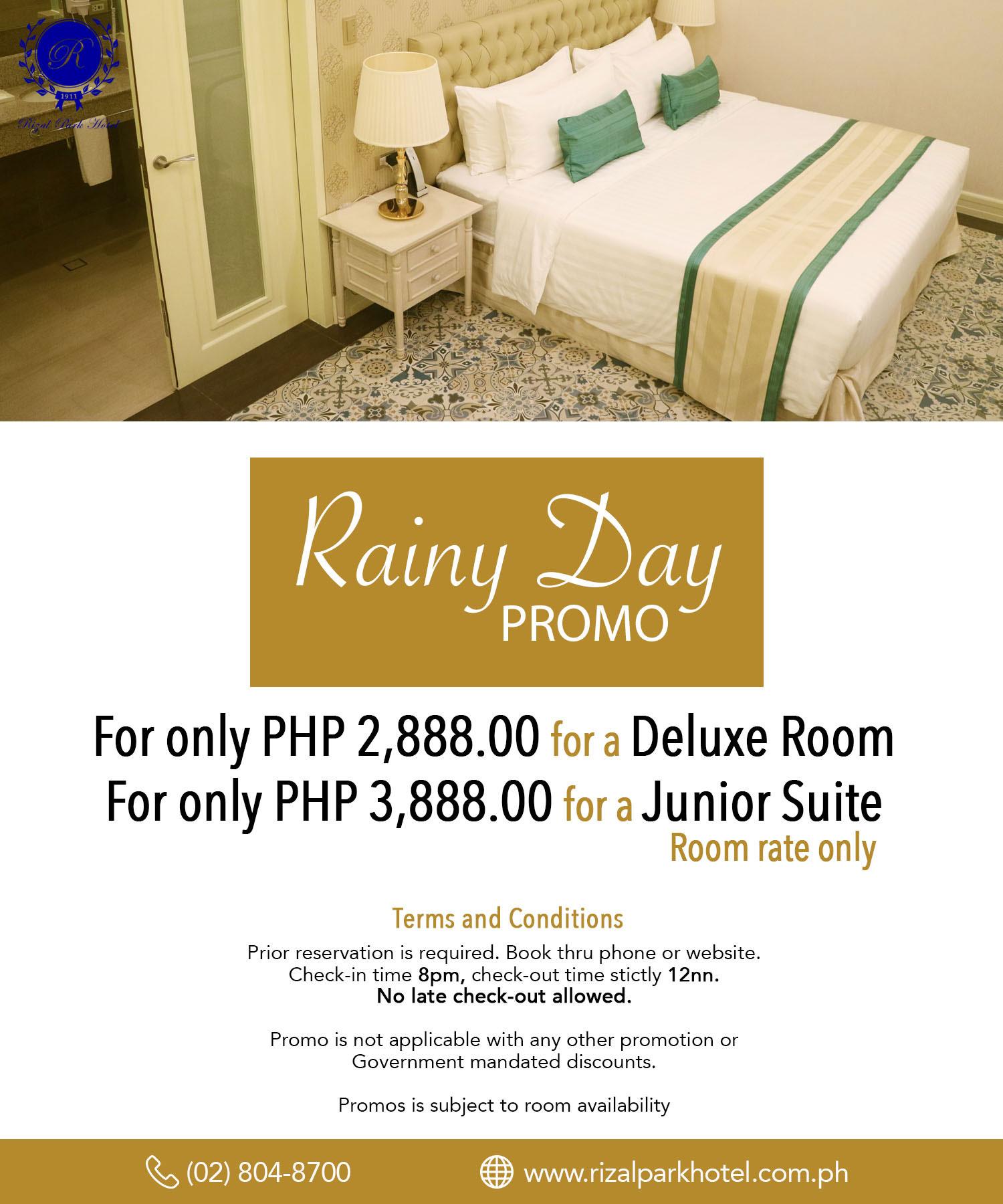 Rizal Park Hotel - Rainy Day Promo