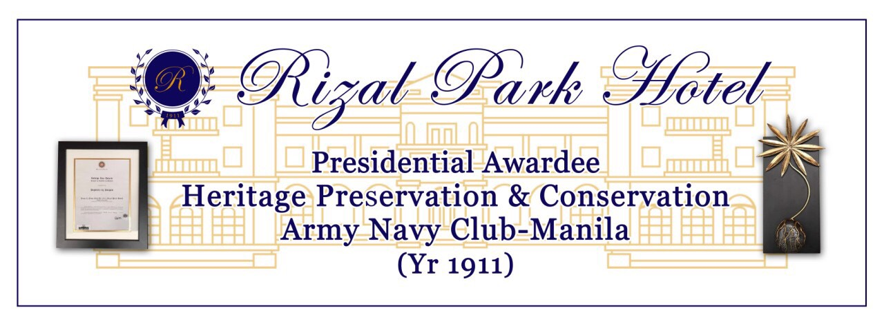 Rizal Park Hotel - Award