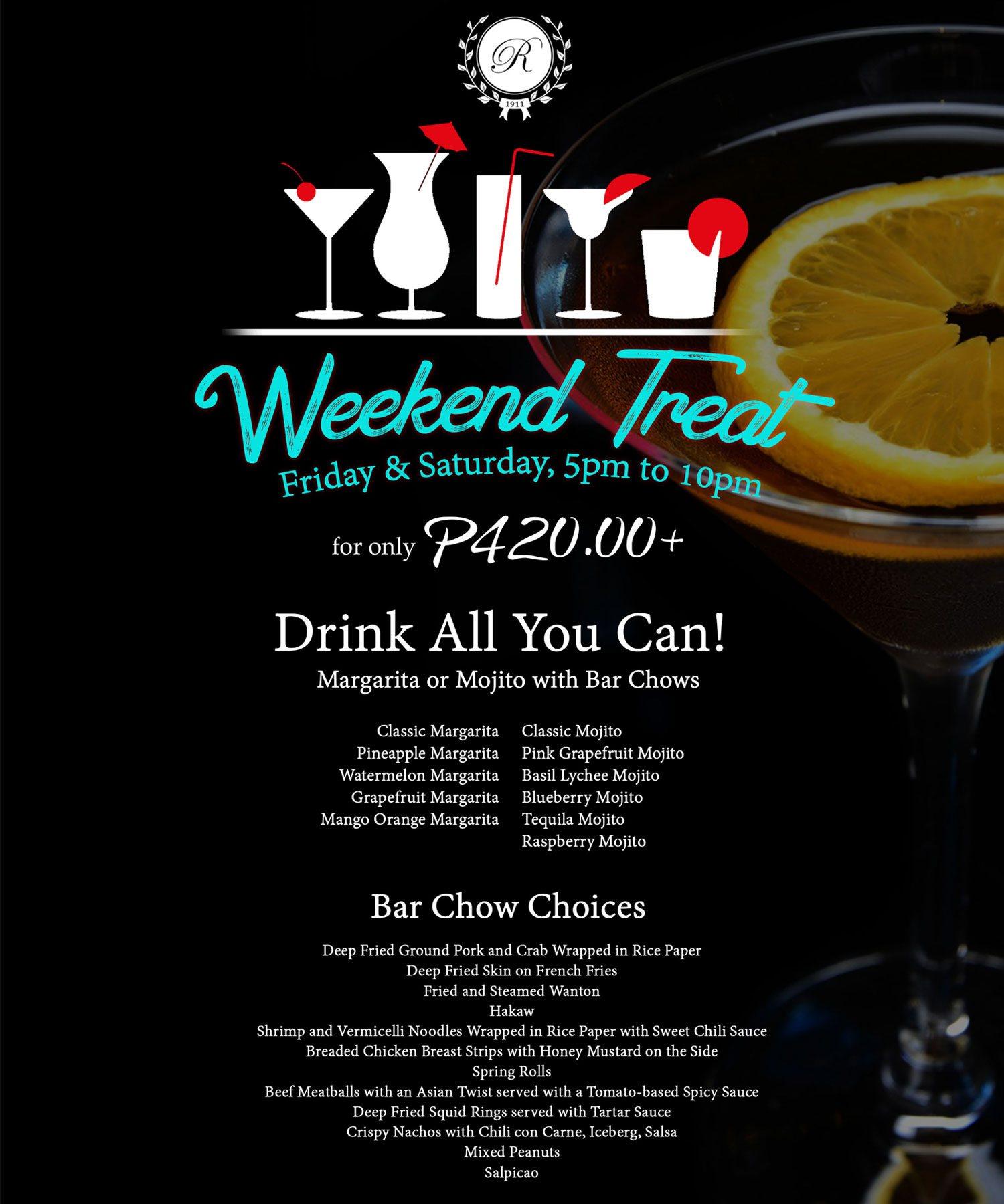 Rizal Park Hotel - Weekend Treat Promo